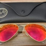 Ray ban aviator rouge